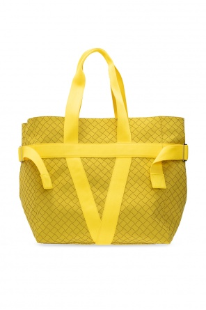 Rubber-finished tote bag od Bottega Veneta
