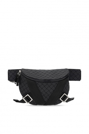 Geometric-pattern belt bag od Bottega Veneta