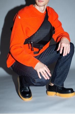 Geometric-pattern belt bag od Bottega Veneta