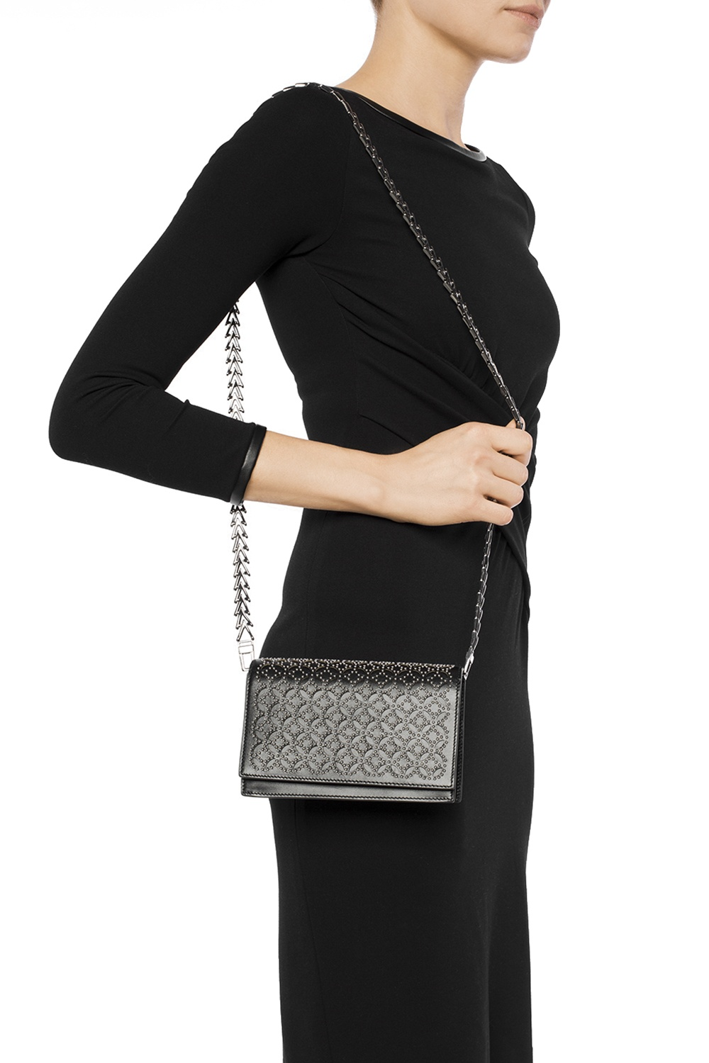 Alaia Studded shoulder bag