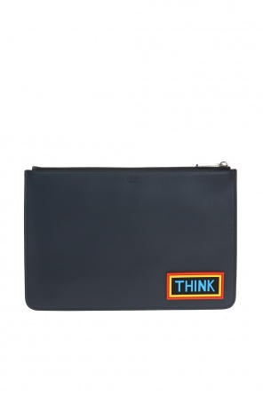 Leather clutch with logo od Fendi