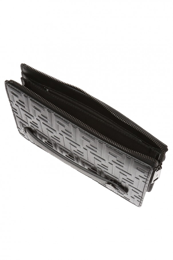 Logo-embossed clutch od Fendi