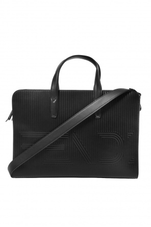 Logo-embossed briefcase od Fendi