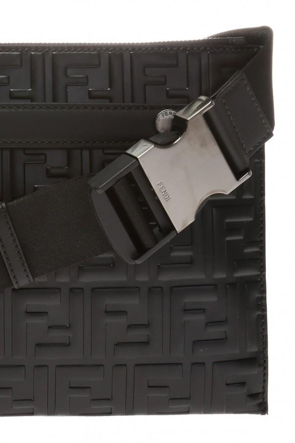 Shoulder bag with raised branding od Fendi