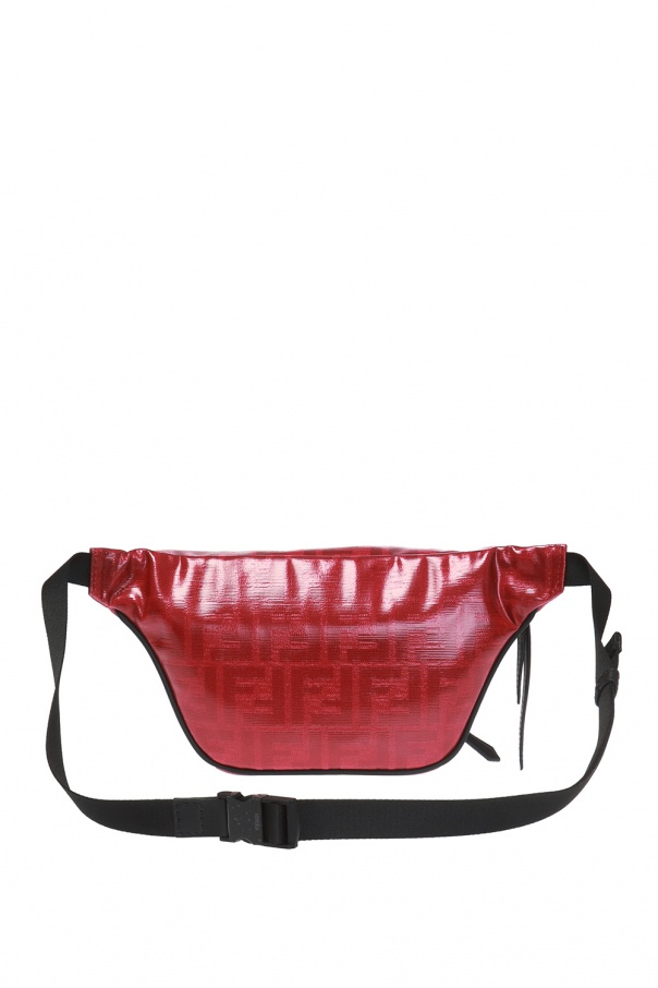 Patched patterned belt bag od Fendi
