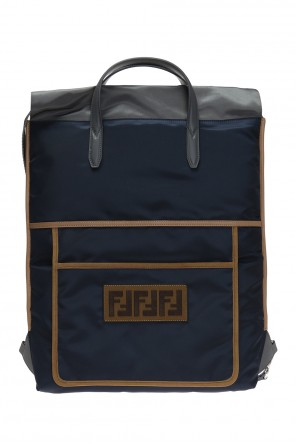 Patched backpack od Fendi