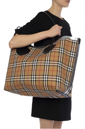 'the giant' checked shopper bag od Burberry