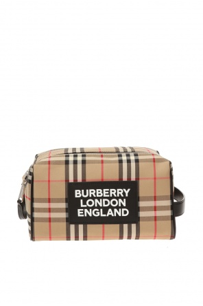 Patterned wash bag od Burberry