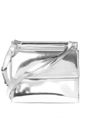 Shoulder bag with embossed lettering od Calvin Klein