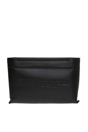 Clutch with embossed lettering od Calvin Klein