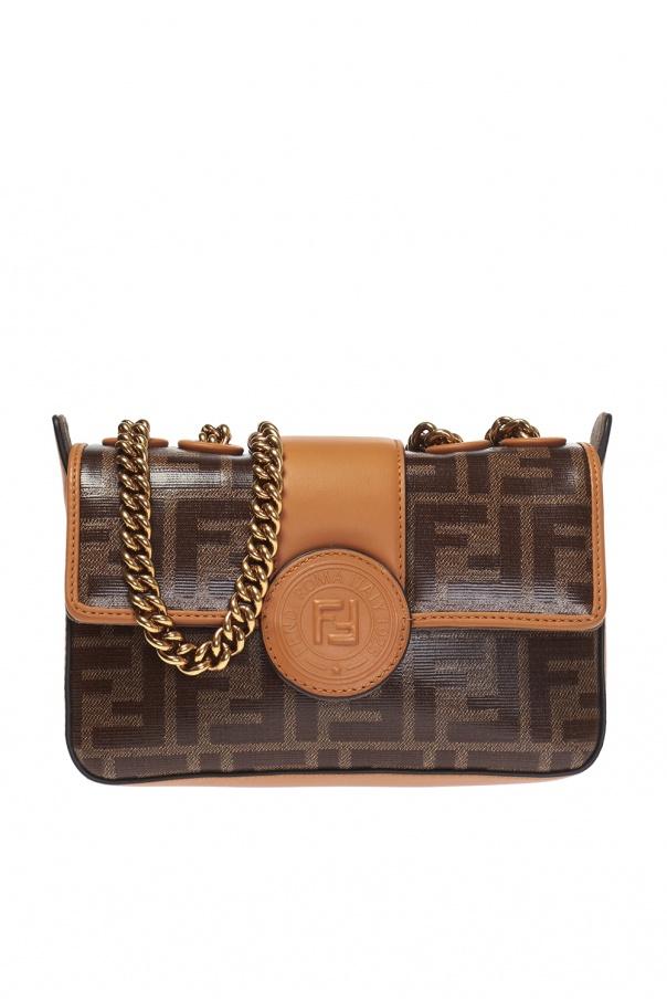 2287b42384e9b Wzorzysta torba na ramię z logo Fendi - sklep internetowy Vitkac