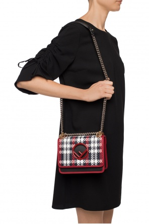 'kan i' woven shoulder bag od Fendi