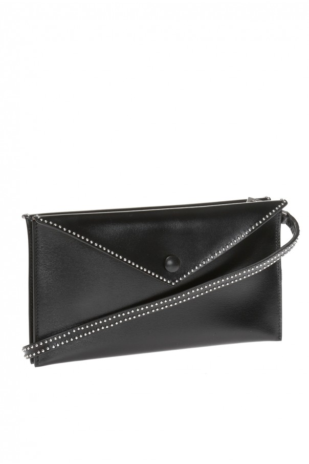 Leather shoulder bag od Alaia