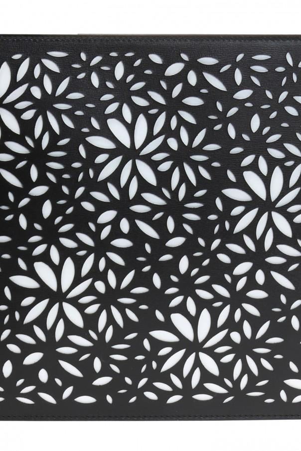 Openwork pattern clutch od Alaia