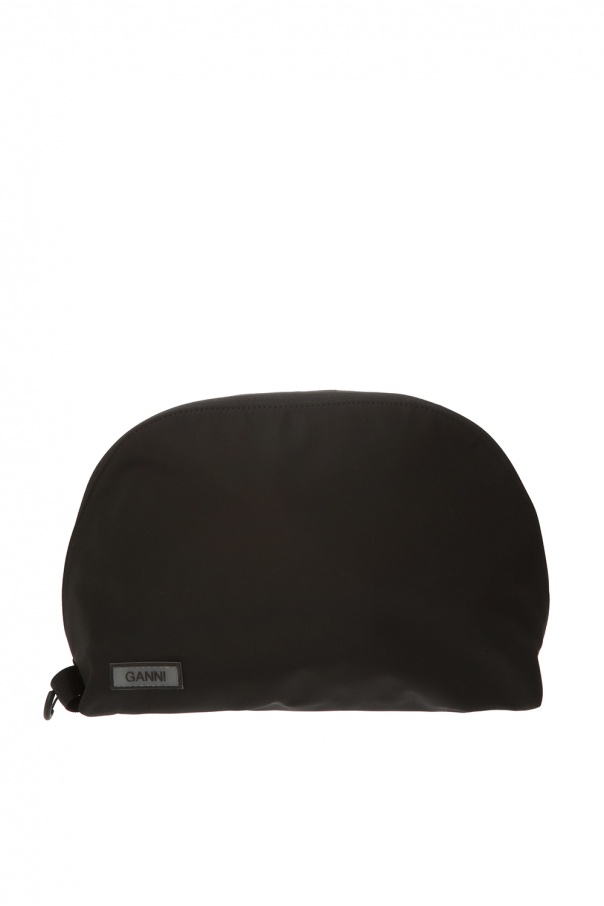Ganni Wash bag with logo