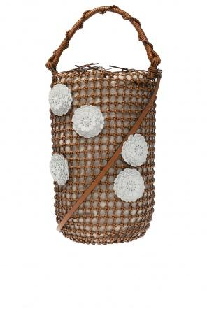 'bucket mesh flower' shoulder bag od Loewe