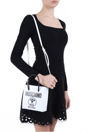 Leather shoulder bag od Moschino