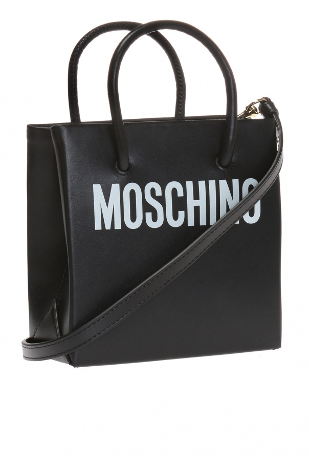 Logo-printed shoulder bag od Moschino