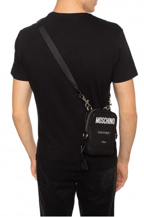 Shoulder bag with printed logo od Moschino