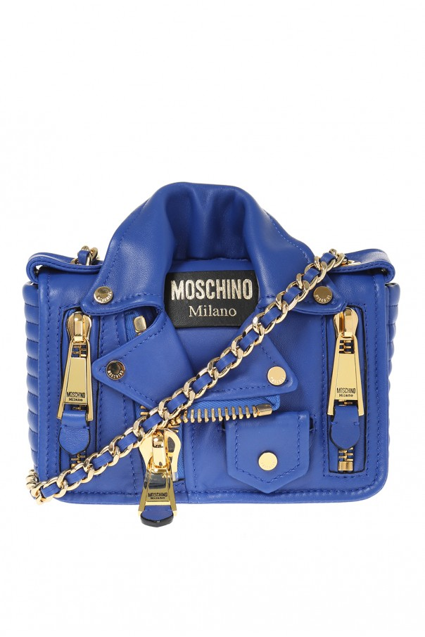 fd9f3e5e097 Biker jacket motif shoulder bag Moschino - Vitkac shop online