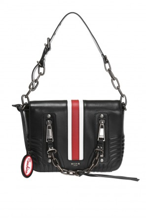 Shoulder bag with metal logo od Moschino