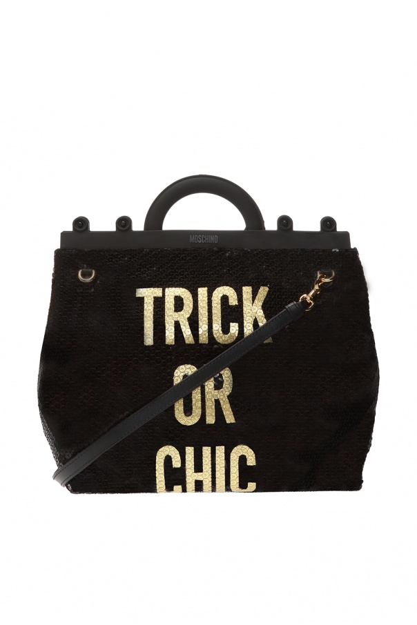 Sequinned shoulder bag od Moschino