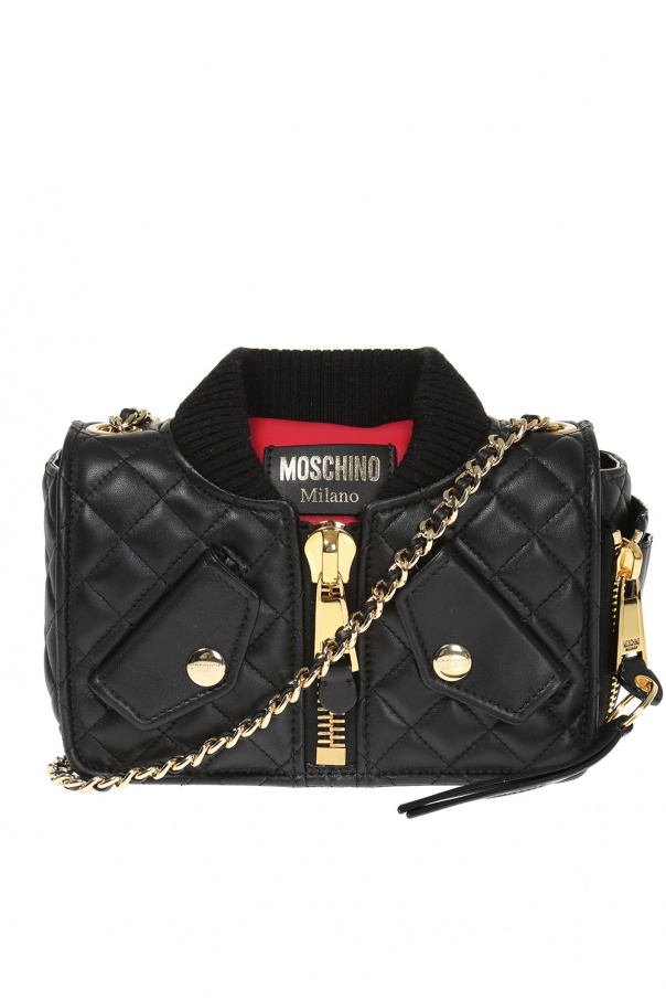 4feca846c Bomber jacket motif shoulder bag Moschino - Vitkac shop online