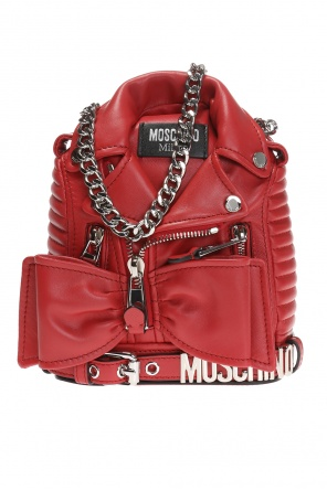 Biker jacket motif shoulder bag od Moschino