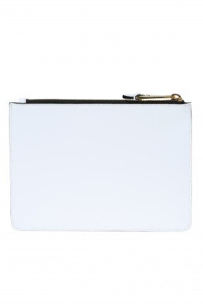 Leather clutch od Moschino