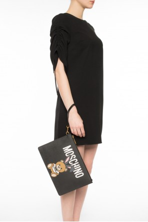 'bear playboy' printed clutch od Moschino