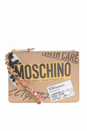 Patterned clutch od Moschino