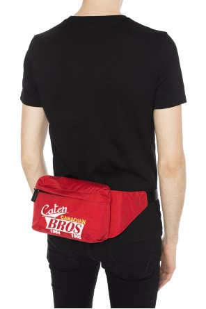 Lettering-embroidered belt bag od Dsquared2