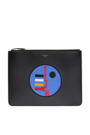 Clutch with round patch od Givenchy