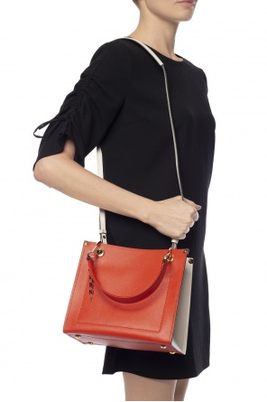 Logo-charmed shoulder bag od Marni