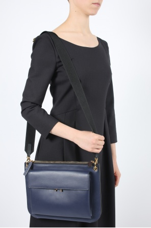 'bandoleer' leather shoulder bag od Marni