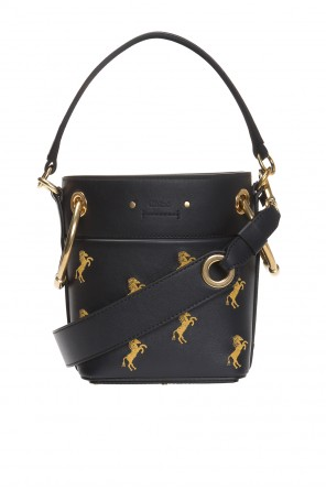'roy' embroidered shoulder bag od Chloe