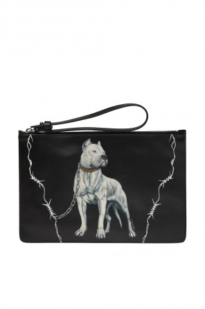 Clutch bag with a print od Marcelo Burlon