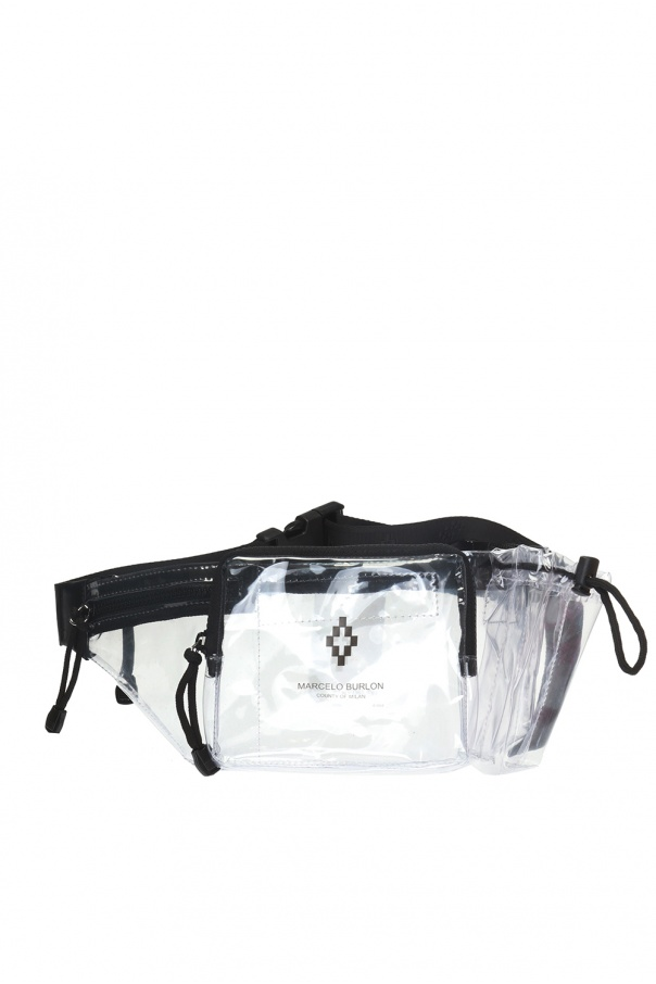 2b71522984f Transparent belt bag with logo Marcelo Burlon - Vitkac shop online