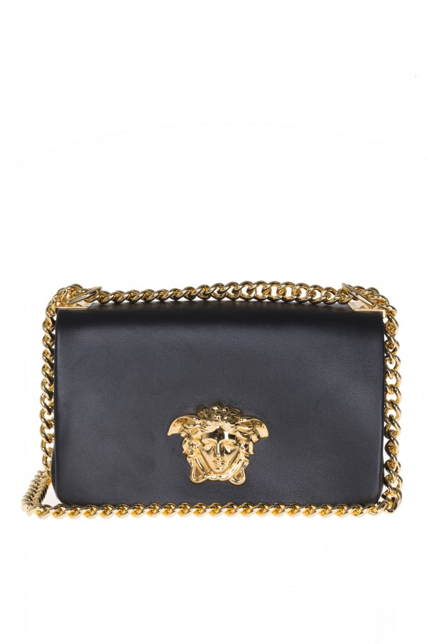 39 palazzo 39 leather shoulder bag versace vitkac shop online. Black Bedroom Furniture Sets. Home Design Ideas
