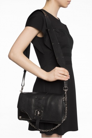 Shoulder bag with metal buckle od Versace