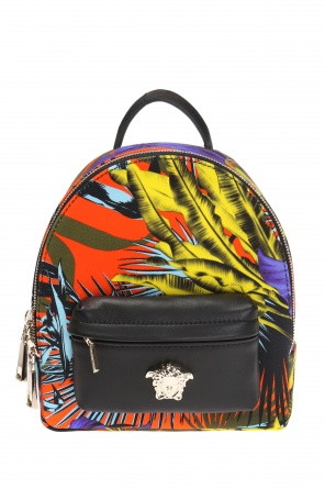Patterned backpack with medusa head od Versace