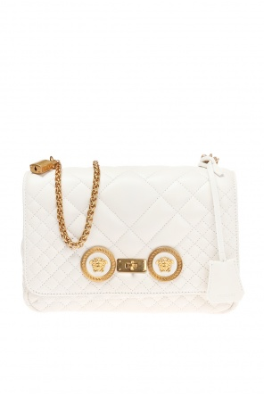 Quilted bag with a medusa motif od Versace