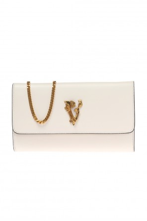 Clutch bag with a decorative application od Versace
