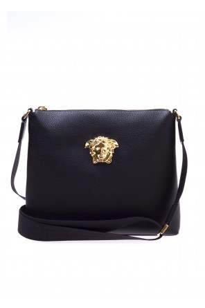 Leather shoulder bag od Versace
