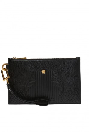 Clutch with signature branding od Versace