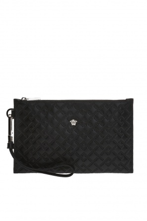 Clutch bag with an embossed greek pattern od Versace