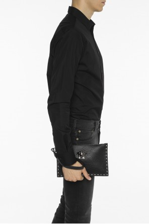 Leather clutch od Versace