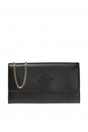 Wallet on chain with medusa motif od Versace
