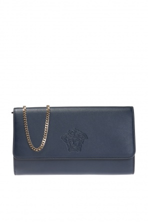 Patterned wallet on chain od Versace