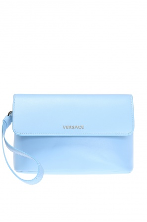Clutch with metal logo od Versace